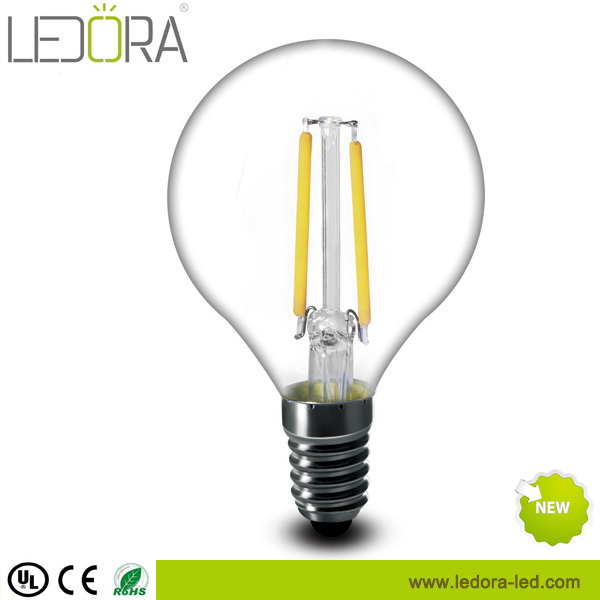 Warm white CCT 230v led filament 2w strip lampe e14 dimmable