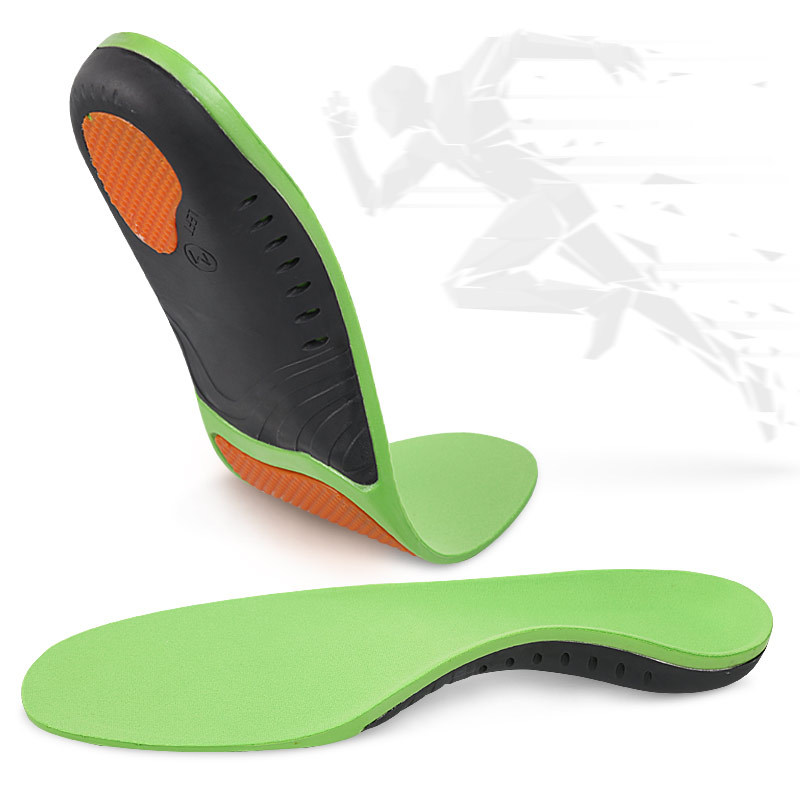 Mesh PU Arch Correction Support Shock Absorption Full Pad Orthopedic Insoles