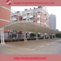 Car parking shade, steel bleachers tensile fabric structure