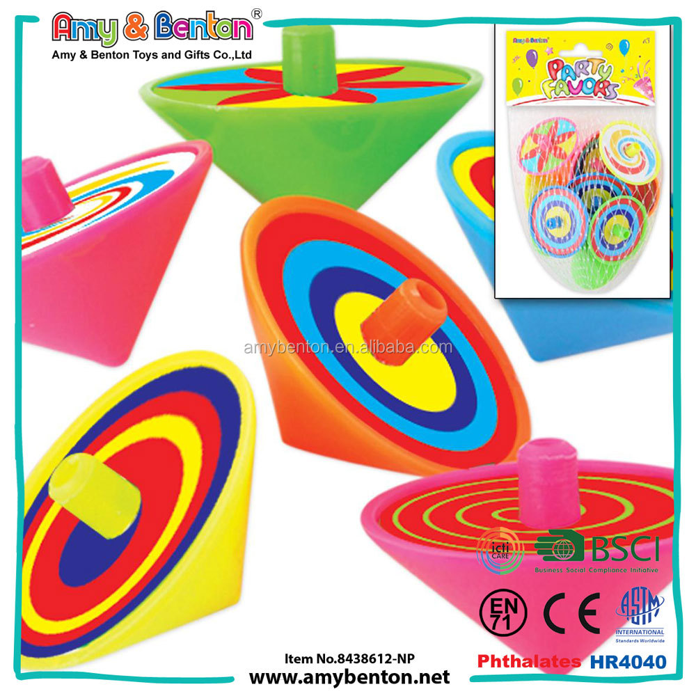 Wholesale Party Favors Plastic Toy Spinning Top For Sale