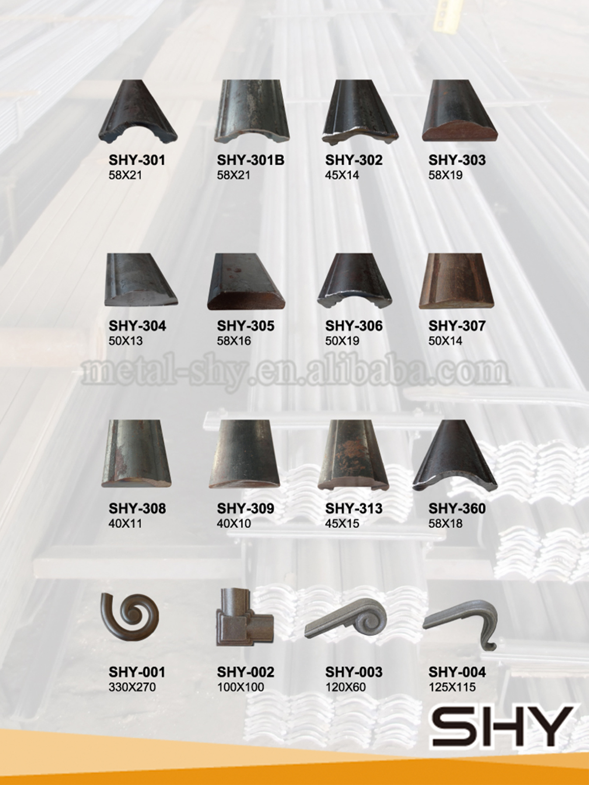 Top-selling Powder Coated Indoor Wrought Iron Handrail