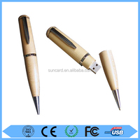 Promotional cheap gifts wooden pen usb flash drive