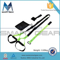 New Green Suspension Trainer Resistance Bands Home Kit