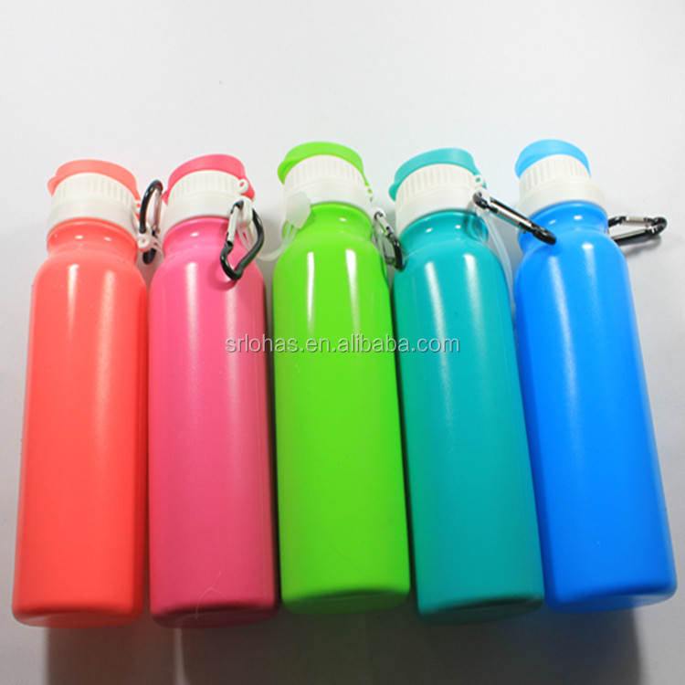 500ml eco friendly portable silicone water bottle