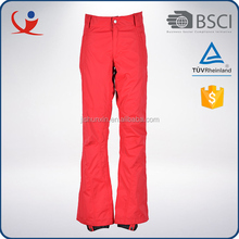Custom windproof fashion style women red color sports long pants