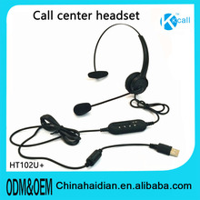DC3.5/2.5& RJ11 RJ9*USB call center earphone headset, office computer online chatting