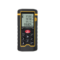 XINTEST Advanced 40 Meter Laser Distance Meter with Hang Up the Law with Test Calculate Yellow And Black