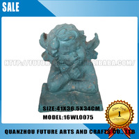 Resin Reading Cherub Angel Statues Home Decoration