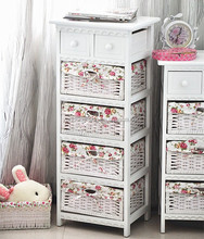 Fashion PVC drawer cabinet wood cupboard bedroom furniture
