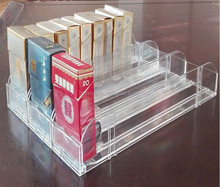 Arcylic Shelf Pusher and Shelf Divider for Tobacco Cigarettes