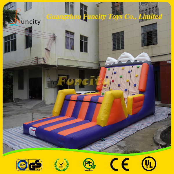 Commercial Kids n Adult Inflatable Climbing Rock Wall/Inflatable Climbing Wall With Slide