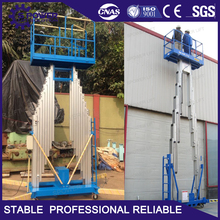 6 mtrs mobile aluminum aerial working electric single man lift