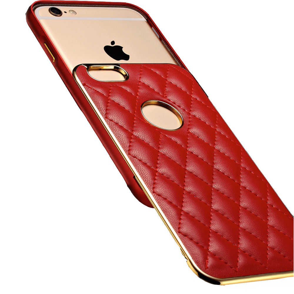 Luxury Original Genuine PU Leather Cover Phone Case For Apple