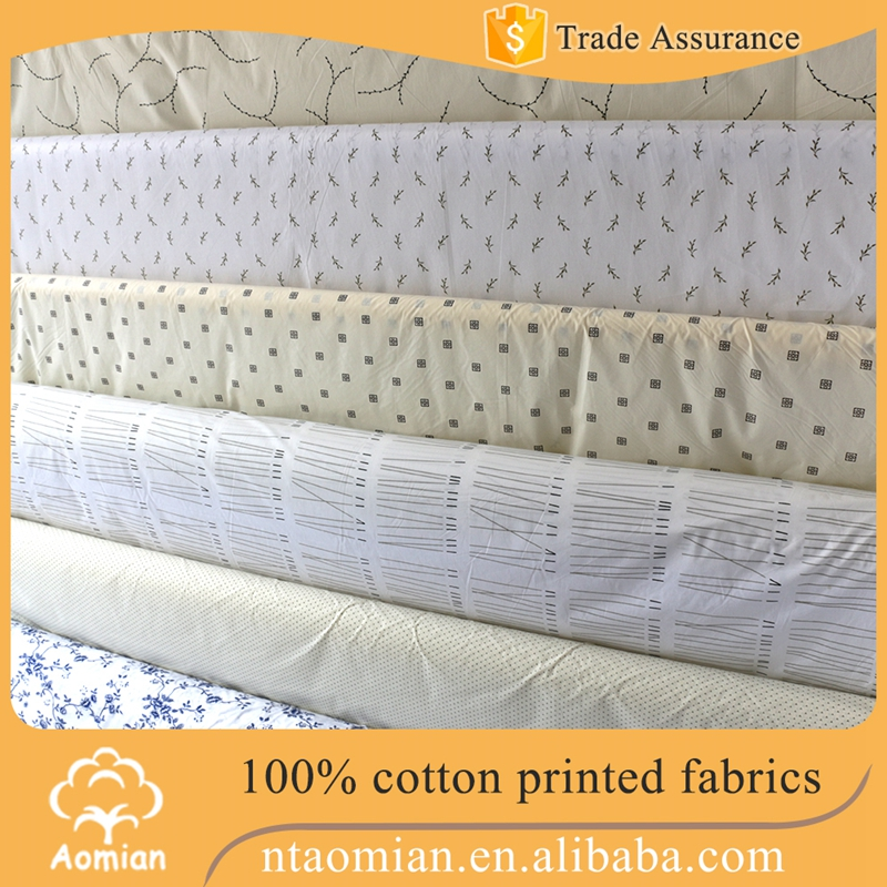 high density 100% cotton custom printed satin fabric used for bedding set