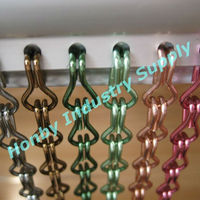 Multifunctional colorful 12mm decorative aluminum chain curtain