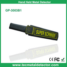 Portable metal detector with three alarm ways Light/Voice/Vibration, GP3003B1hand held metal detector