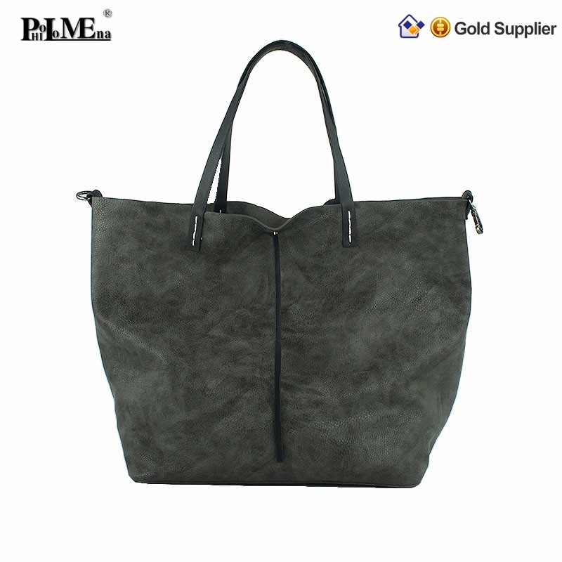 Guangzhou hand bags new korean stylish fashion pu women leather handbag
