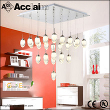 Contemporary egg shape hanging led acrylic living room ceiling light