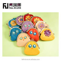 Colorful cute candy color girl small purse women purse for change coin bag with chain