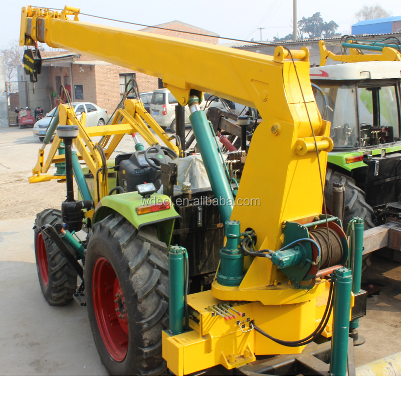 Tractor Auger Crane for Electric Pole Construction popular sale