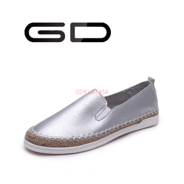 Fashion flats for women Lite girls loafers footwear Comfortable gladiator with straw plaited