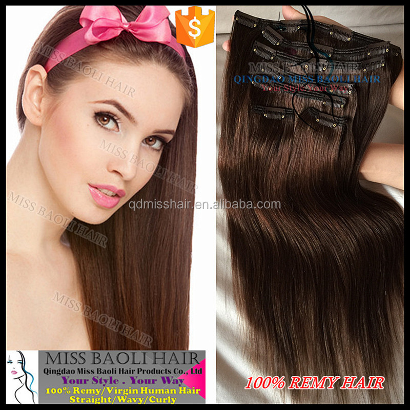 Wholesale Factory Price 100 Remy Human Hair 2016 Best Selling peruvian clip in hair extensions