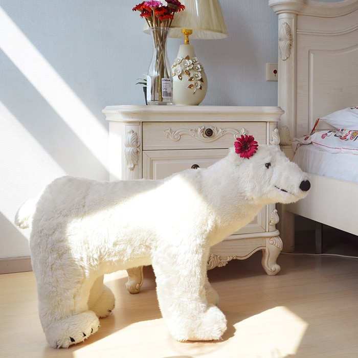 Free sample factory direct plush type white polar bear doll toy