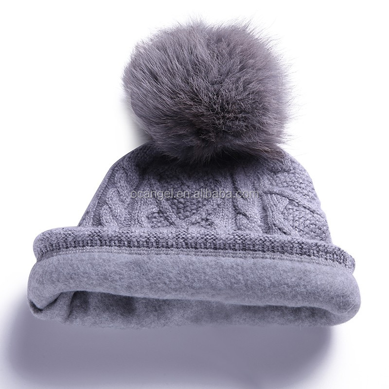 Custom promotion soft thick personalized pom pom baggy winter knitted beanie hats