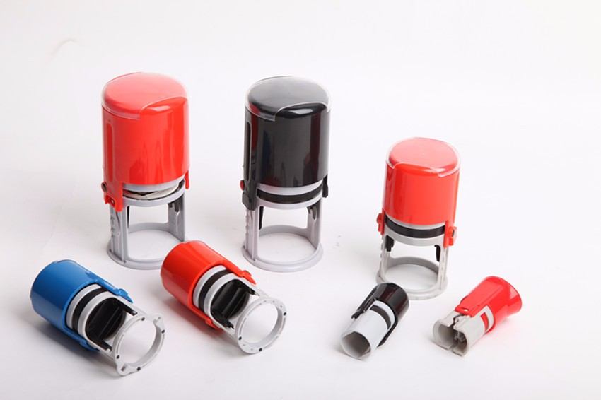 China factory best price ABS,Plastic Office Use self-inking rubber round stamp