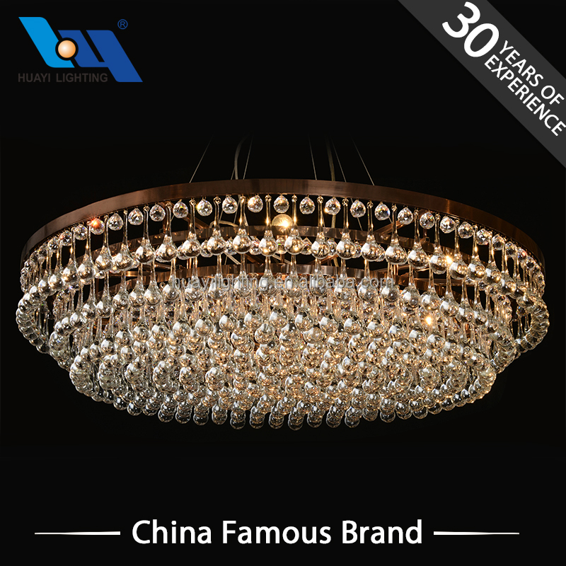 Decoration lights Custom indoor big crystal chandelier