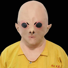 Creepy & Soft Adult Size Halloween Full Head Rubber Latex Alien Mask