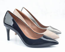 china new style genuine leather women fashion high heel shoes 2014
