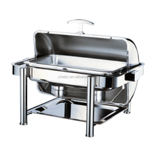 2017 new product rectangle roll top electric chafing dishes cheap dish hotel restaurant supplies