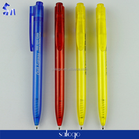 best selling wholesale simple design low price transparent ball pen