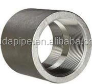 NPT/BSP carbon steel socket weld pipe coupling threaded half/full coupling