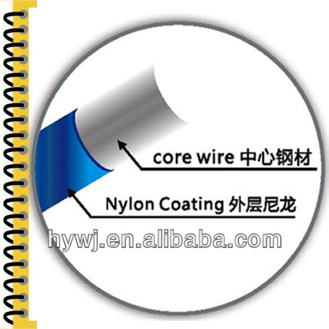 High quality school stationery wire notebook book binding wire,made of environmental nylon coated wire