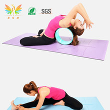 Best sale anti slip colorful eco friendly natural rubber custom print position line yoga mat