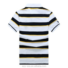 Men's 95% Cotton 5% Spandex Polo T-shirts Cheap Wholesale Striped Polo