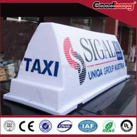 Alibaba best seller! Personalized outdoor acrylic taxi top advertising light box, high quality led taxi top light box