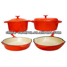 cast iron enamelware cookware