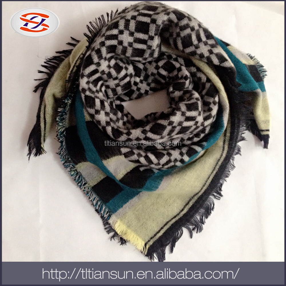 China Competition Price big fashion cashmere shawl/ smart heated scarf