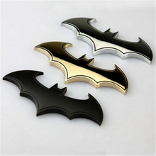 Bat 3D Chrome Metal Motorcycle Auto Car Logo Sticker Emblem Badge Tail Decals