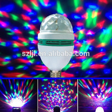 Festival decoration E27 3W 4w 6w Christmas Colorful Auto Rotating RGB LED Bulb Stage Light Party Lamp Disco