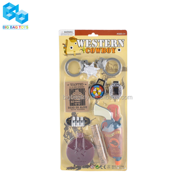 Plastic Funny toy cowboy gun educational toys for kids