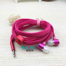 Metal Nylon Shoelaces Earbuds In-ear Earphone for Mobile phone iPhone 6