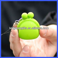 Mobile phone strap with mini silicone wallet