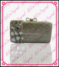 Aidocrystal chinese well-known brand sparkling Crystal Clutch Handbag - handmade With crystals