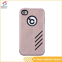 Attractive Appearance Unique Design 2 in 1 For Iphone 4 Back Case