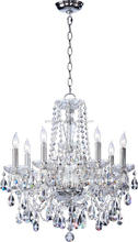 (C)UL & ETL Listed modern crystal pendant chandelier lighitng with glass arm polished chrome finish