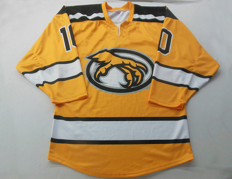 Hot sale custom design sublimation printed embroidery ice hockey jersey